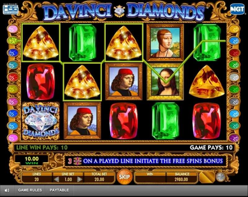 Da Vinci Diamonds Slot Games